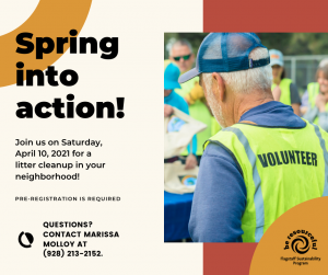 Spring Into Action Community Clean Up!