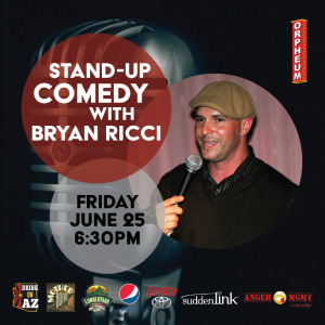 A Night of Live Comedy with Bryan Ricci - EARLY SHOW
