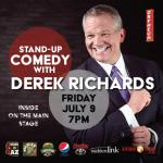 Comedian Derek Richards on the Main Stage
