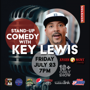 Comedian Key Lewis on the Main Stage