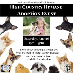 High Country Humane Adoption Event