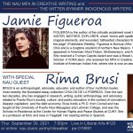 Writer Jamie Figueroa, a part of the Witter-Bynner Indigenous Writers Series