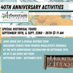 Special Historical Tours @ The Arb