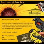 Bird talk @ The Arb