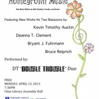 """DT """"Double Trouble"""" Bassoon Duo: Four World Premieres"""