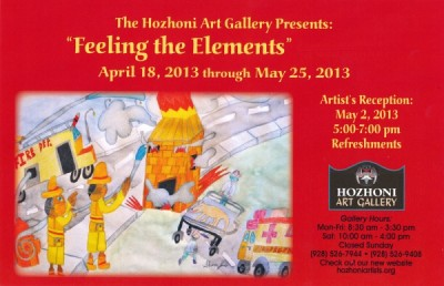 """Artists' Reception, """"Feeling the Elements"""""""