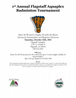1st Annual Flagstaff Aquaplex Badminton Tournament...