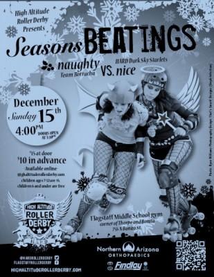 """Roller Derby Bout: """"Seasons Beatings!"""""""