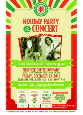 Holiday Party & Concert with Tristan Scroggins and Anam Cara