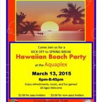 Kick Off to Spring Break Hawaiian Beach Party