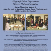 Flagstaff Police Department Citizens Liaison Committee to meet