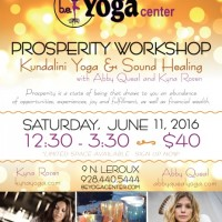 Prosperity Workshop : Kundalini Yoga & Sound Healing